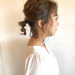 簡単ヘアアレンジ ネジネジポニー ナチュラル ヘアアレンジ ヘアスタイルや髪型の写真・画像