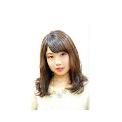 艶髪 ニュアンス ミディアム ナチュラル ヘアスタイルや髪型の写真・画像