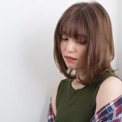 フェミニン 大人女子 女子力 ロブ ヘアスタイルや髪型の写真・画像