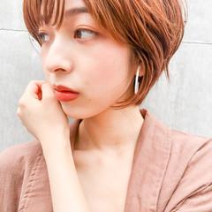 ハイライト ベリーショート フェミニン ショートカット ヘアスタイルや髪型の写真・画像