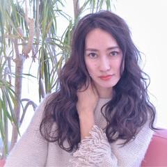 ニュアンス 大人女子 黒髪 ロング ヘアスタイルや髪型の写真・画像