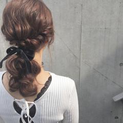 エレガント 結婚式 セミロング ヘアアレンジ ヘアスタイルや髪型の写真・画像