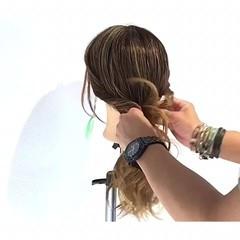ナチュラル 簡単ヘアアレンジ 雨の日 梅雨 ヘアスタイルや髪型の写真・画像