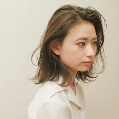 ミディアム 女子力 ナチュラル 簡単ヘアアレンジ ヘアスタイルや髪型の写真・画像