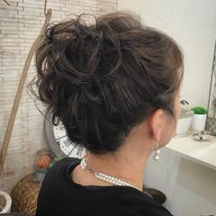 セミロング パーティ エレガント 二次会 ヘアスタイルや髪型の写真・画像