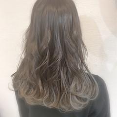 ガーリー ハイライト セミロング 透明感 ヘアスタイルや髪型の写真・画像