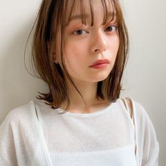 デジタルパーマ アンニュイほつれヘア ナチュラル くびれボブ ヘアスタイルや髪型の写真・画像