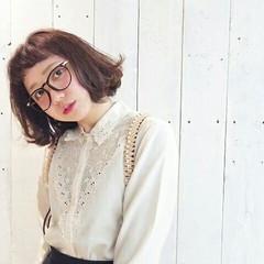 フェミニン ガーリー ショート 前髪あり ヘアスタイルや髪型の写真・画像