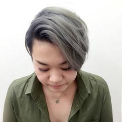 刈り上げ ショート ホワイト 外国人風 ヘアスタイルや髪型の写真・画像