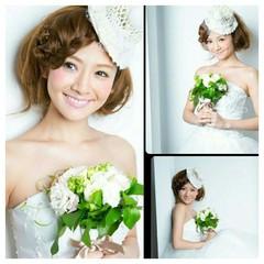 ブライダル ロング ナチュラル 結婚式 ヘアスタイルや髪型の写真・画像