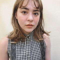 透明感 前髪あり 夏 ナチュラル ヘアスタイルや髪型の写真・画像