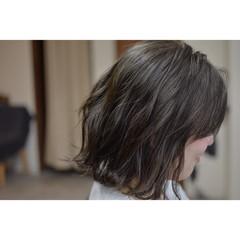 ストリート アッシュ バレイヤージュ ボブ ヘアスタイルや髪型の写真・画像
