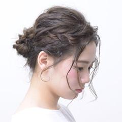 波ウェーブ デート ナチュラル ヘアアレンジ ヘアスタイルや髪型の写真・画像