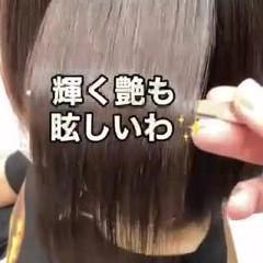 縮毛矯正 ナチュラル 縮毛矯正名古屋市 ストレート ヘアスタイルや髪型の写真・画像