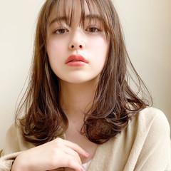 ミディアム 大人かわいい 簡単スタイリング ナチュラル ヘアスタイルや髪型の写真・画像