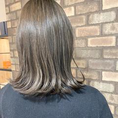 ナチュラル ブルーアッシュ N.オイル 透明感 ヘアスタイルや髪型の写真・画像