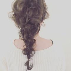 グラデーションカラー ヘアアレンジ 暗髪 ロング ヘアスタイルや髪型の写真・画像