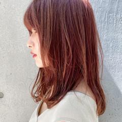ナチュラル モテ髮シルエット デート ミディアム ヘアスタイルや髪型の写真・画像