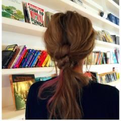 ヘアアレンジ ポニーテール ロング ナチュラル ヘアスタイルや髪型の写真・画像