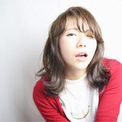 ミディアム 外国人風 ハイライト かわいい ヘアスタイルや髪型の写真・画像
