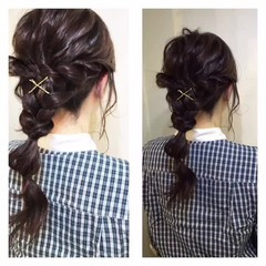 ヘアアレンジ ハーフアップ ショート 簡単 ヘアスタイルや髪型の写真・画像