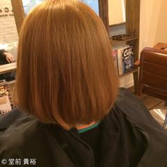 ショートボブ ストリート ハイトーン ボブ ヘアスタイルや髪型の写真・画像