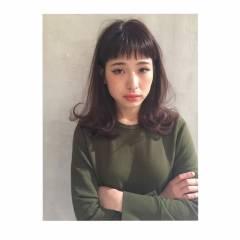 春 モード セミロング パンク ヘアスタイルや髪型の写真・画像