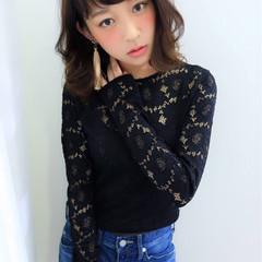 ミディアム 大人かわいい 色気 ロブ ヘアスタイルや髪型の写真・画像