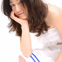 おフェロ セミロング ゆるふわ フェミニン ヘアスタイルや髪型の写真・画像