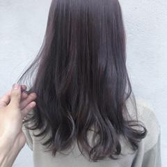 簡単ヘアアレンジ セミロング ハイライト 切りっぱなしボブ ヘアスタイルや髪型の写真・画像