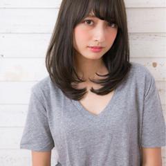 ヘアアレンジ 大人女子 アッシュ 暗髪 ヘアスタイルや髪型の写真・画像
