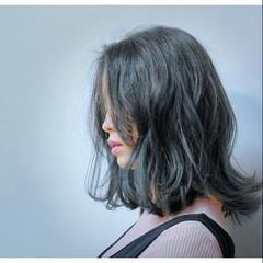 ナチュラル くせ毛風 暗髪 ボブ ヘアスタイルや髪型の写真・画像