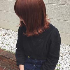 ショートボブ かっこいい ボブ ピンク ヘアスタイルや髪型の写真・画像