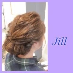 着物 ねじり セミロング ヘアアレンジ ヘアスタイルや髪型の写真・画像
