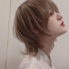 ウルフレイヤー マッシュウルフ ミディアム ストリート ヘアスタイルや髪型の写真・画像