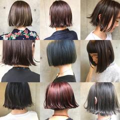 簡単ヘアアレンジ ヘアアレンジ 前髪あり ボブ ヘアスタイルや髪型の写真・画像