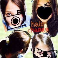 セミロング オレンジ ナチュラル イエロー ヘアスタイルや髪型の写真・画像