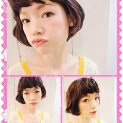 ベース型 夏 丸顔 ストリート ヘアスタイルや髪型の写真・画像
