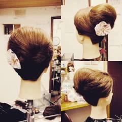 お祭り ガーリー セミロング アップスタイル ヘアスタイルや髪型の写真・画像