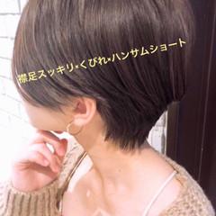 ハンサムショート ショート ショートボブ ナチュラル ヘアスタイルや髪型の写真・画像