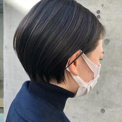 ミニボブ ショートヘア インナーカラー ショート ヘアスタイルや髪型の写真・画像