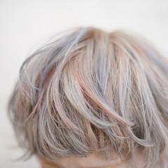 ハイトーン ハイライト ストリート 冬 ヘアスタイルや髪型の写真・画像