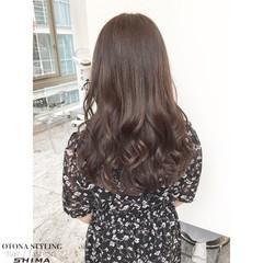 大人かわいい セミロング コンサバ アッシュ ヘアスタイルや髪型の写真・画像