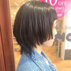 モード 黒髪 ショート ウルフカット ヘアスタイルや髪型の写真・画像