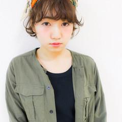 小顔 ガーリー ショート ヘアアクセ ヘアスタイルや髪型の写真・画像