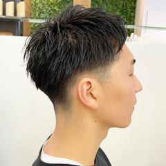 マッシュショート メンズパーマ メンズヘア メンズカット ヘアスタイルや髪型の写真・画像