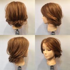 簡単ヘアアレンジ ヘアアレンジ セミロング ロープ編み ヘアスタイルや髪型の写真・画像