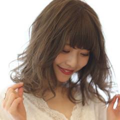 ミディアム モテ髪 大人かわいい かわいい ヘアスタイルや髪型の写真・画像