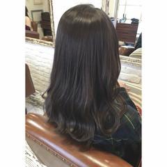 セミロング グラデーションカラー 外国人風 ナチュラル ヘアスタイルや髪型の写真・画像