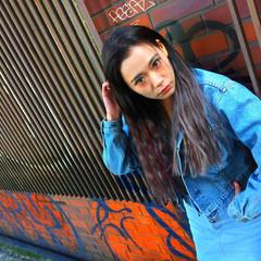 ハイライト グラデーションカラー エクステ 外国人風 ヘアスタイルや髪型の写真・画像
